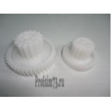 266-0030 Блок шестерен Redmond RMG-1212(комплект 2шт), d-67/33/8,зуб-43/15 прям/прям;d-49,5/27,5/8,зуб-59/17 кос/п